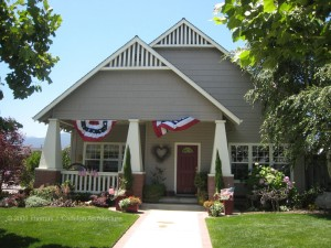 This bungalow designed by TJC is decorated with patriotic bunting