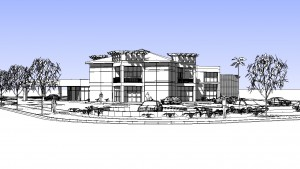 Concept Drawing for Auto Dealership